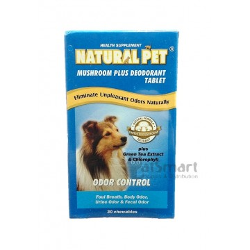 Natural Pet Mushroom Plus Deodorant Tablet 30 tablets