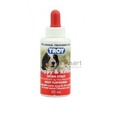 Troy Puppy & Kitten Worm Syrup 50ml