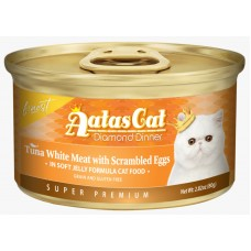 Aatas Cat Finest Diamond Dinner Tuna with Scrambled Eggs in Soft Jelly 80g