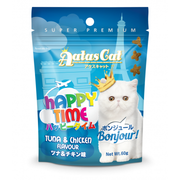 Aatas Cat Happy Time Bonjour Tuna & Chicken 60g (3 Packs)