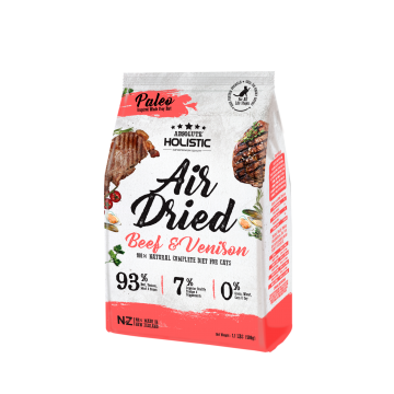 Absolute Holistic  Air Dried Cat Food 500g Beef & Venison