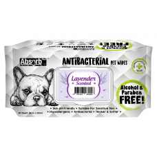 Absorb Plus Pet Wipes Antibacterial 80's Lavender