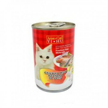Aristo Cats Fresh Chicken And Seafood In Jelly 400g