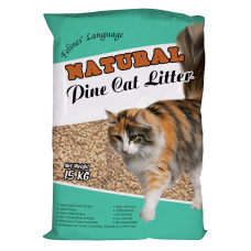 Felines Language Natural Pine Cat Litter 15kg  (2 Packs)
