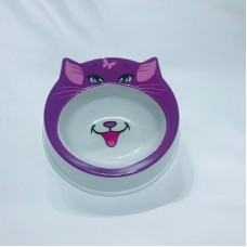 Animal Design Pet Bowl Purple Flintstone