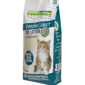 BreederCelect Recycled Paper Cat Litter 30L (2 Packs)