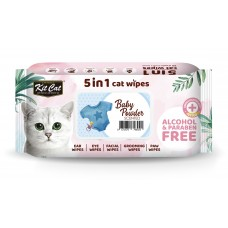 Kit Cat 5 in 1 Cat Wipes 80's Baby Powder