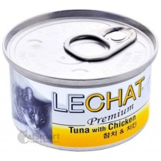LeChat Premium Tuna with Chicken 80g