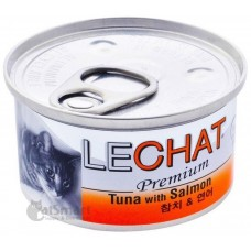 LeChat Premium Tuna with Salmon 80g