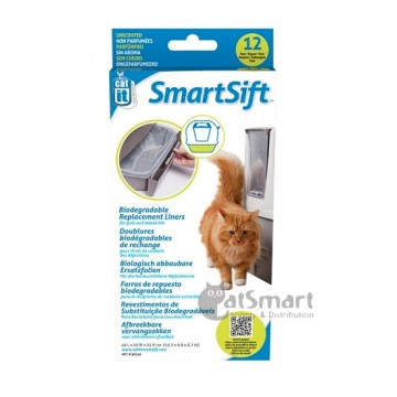SmartSift Biodegradable Replacement Liners For Pull-Out Waste Bin [50540] - 12 liners/pack