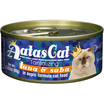 Aatas Cat Tantalizing Tuna & Saba 80g