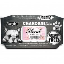 Absorb Plus Pet Wipes Charcoal 80's Floral