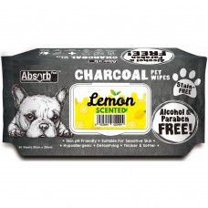 Absorb Plus Pet Wipes Charcoal 80's Lemon