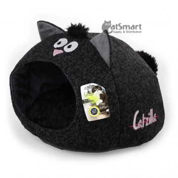 AFP Catzilla Meow Cat House Black