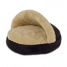 AFP Lambswool Cosy Snuggle Bed Brown
