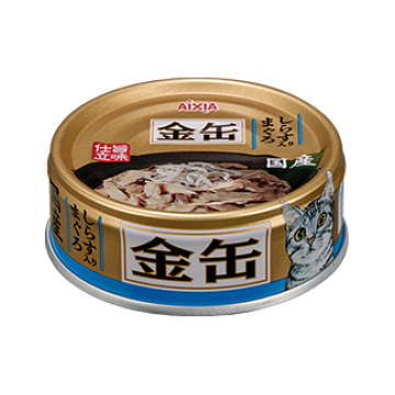 Aixia Kin Can Mini Tuna with Whitebait 70g Carton (24 Cans)