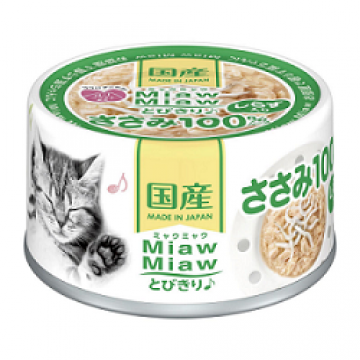 Aixia Miaw Miaw Chicken Fillet with Whitebait 60g Carton (24 Cans)