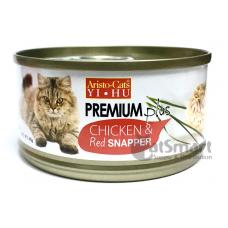 Aristo Cats Premium Plus Chicken & Red Snapper 80g