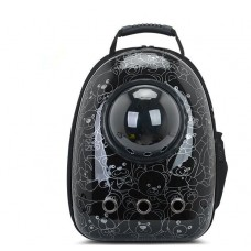 Astronaut Capsule Pet Backpack Black Bear