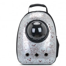Astronaut Capsule Pet Backpack Grey Bear