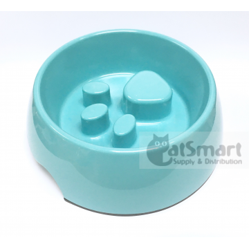 Pet Bowl Slow Feed Small Light Blue
