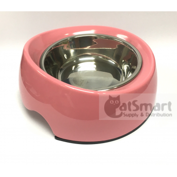 Pet Bowl Slant Small Pink