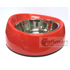 Pet Bowl Slant Large Red