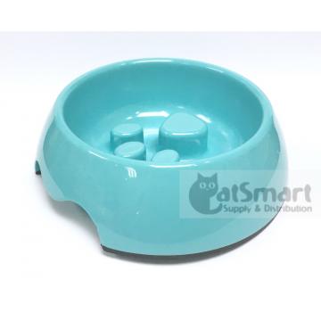 Pet Bowl Slow Feed Medium Light Blue