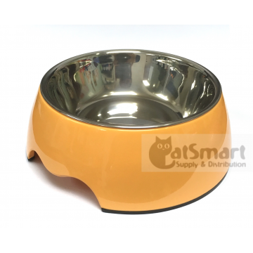 Pet Bowl Plain Medium Light Orange