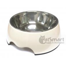 Pet Bowl Plain Medium White