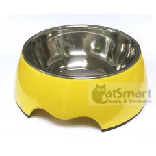 Pet Bowl Plain Medium Yellow
