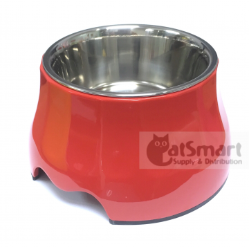 Pet Bowl High Small Red