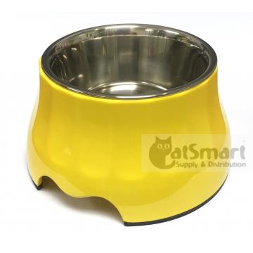 Pet Bowl High Small Yellow