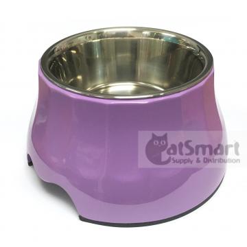 Pet Bowl High Small Purple