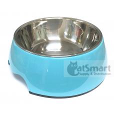 Pet Bowl Plain Medium Light Blue
