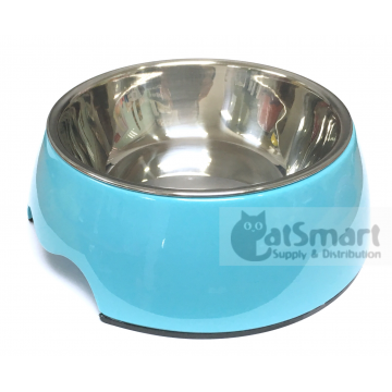 Pet Bowl Plain Medium Light Blue