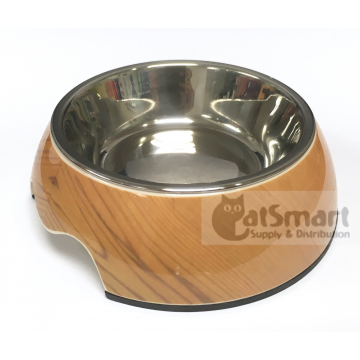 Pet Bowl Print Small Wood