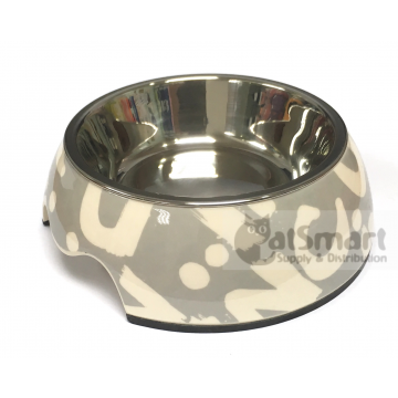 Pet Bowl Print Small Grey
