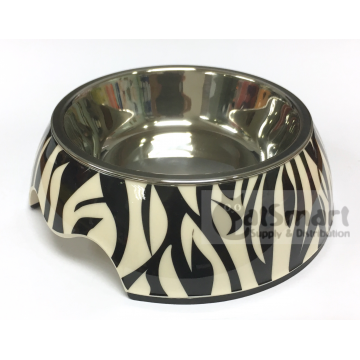 Pet Bowl Print Small Zebra