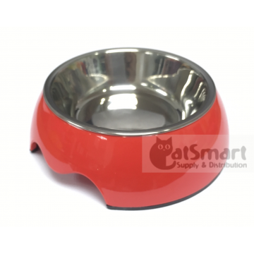 Pet Bowl Plain Large Red