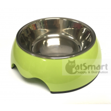 Pet Bowl Plain Small Green
