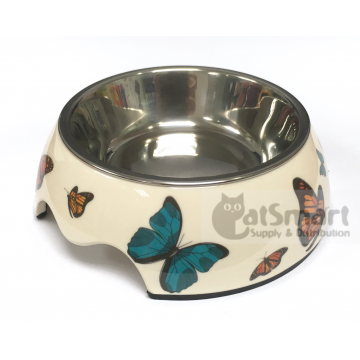 Pet Bowl Print Small Butterfly