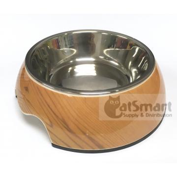 Pet Bowl Print Small Wood