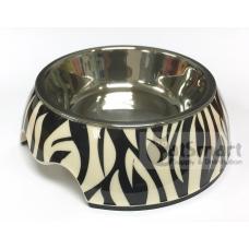 Pet Bowl Print Small Zebra