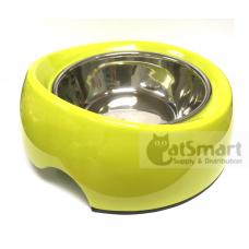 Pet Bowl Slant Large Green