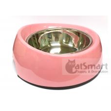 Pet Bowl Slant Large Light Pink