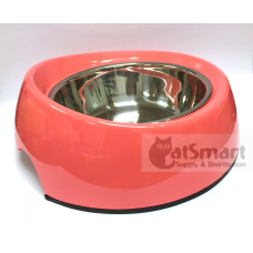 Pet Bowl Slant Large Peach Red