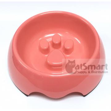 Pet Bowl Slow Feed Medium Pink