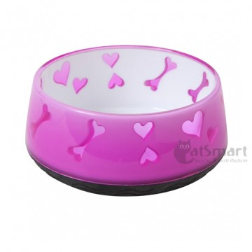 AFP Non-Skid Bowl Small Pink Dogbone