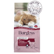 Burgess Mature Cat 7+ Years Old Turkey & Cranberry 1.4kg